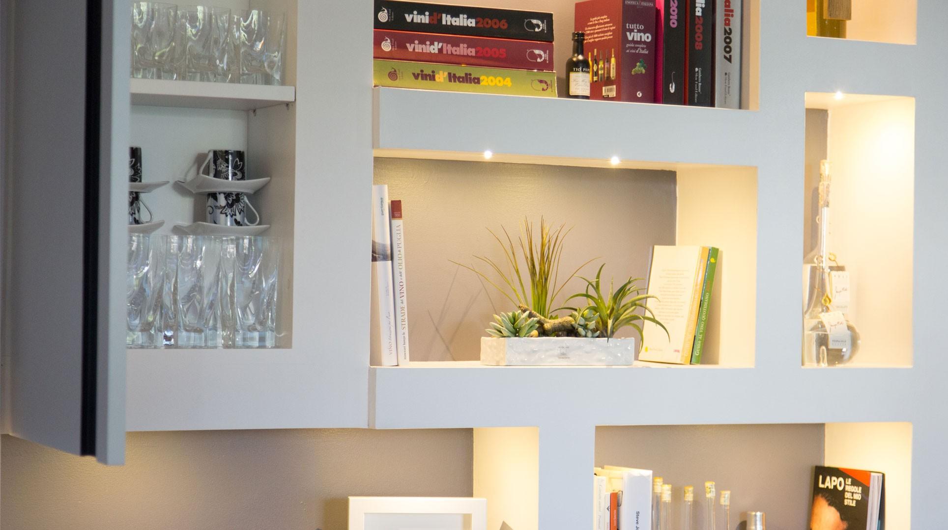 Parete Attrezzata Sospesa In Cartongesso : Come decorare lavagna adesiva a muro