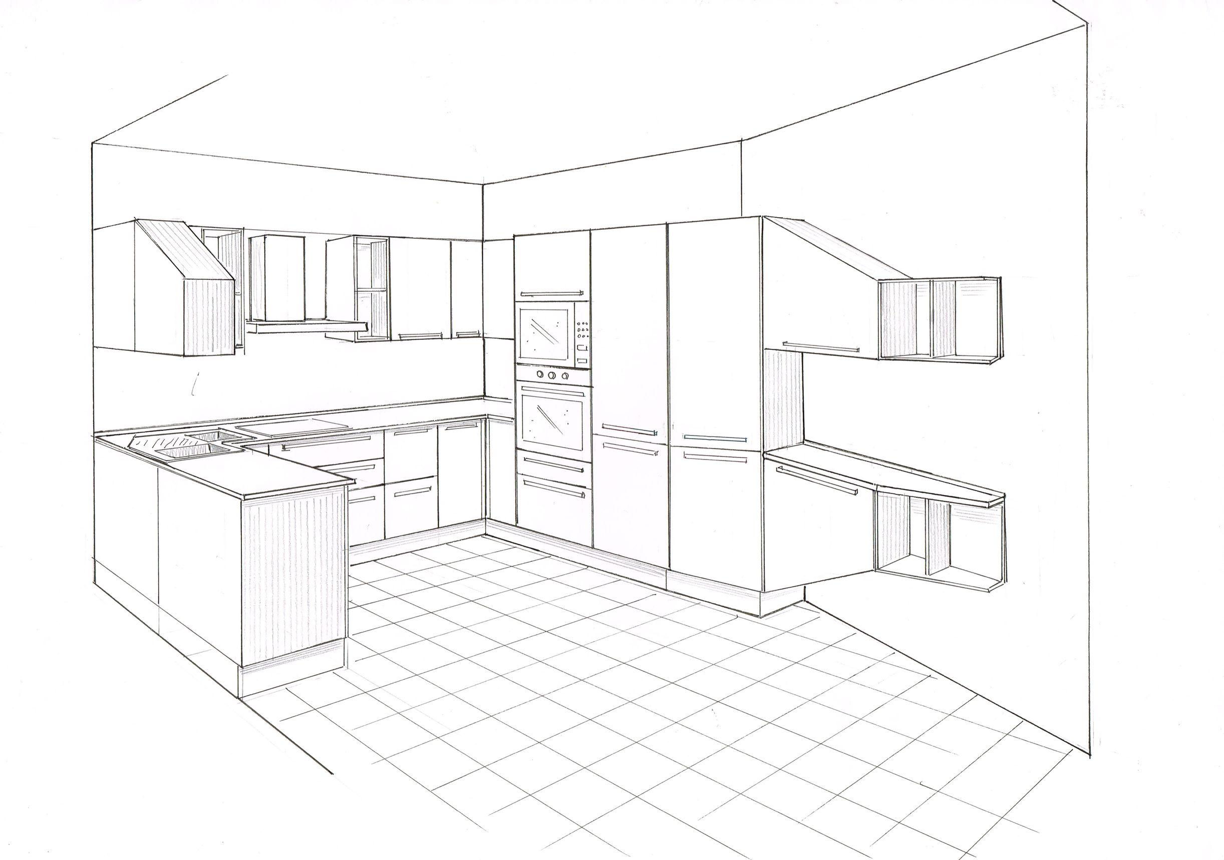 Cucina con vetrata vista mare - Colorare una cucina ...