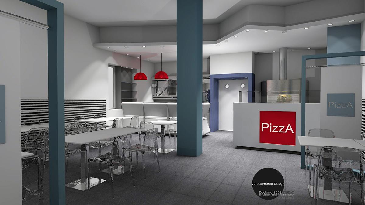 Arredamento contract progetto arrredamento locale pizzeria for Pizzeria arredamento