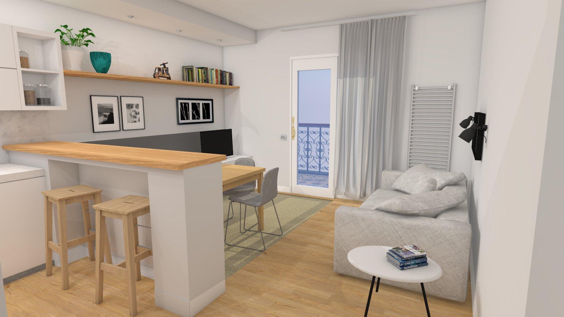 Come arredare un soggiorno con angolo cottura ym63 for Arredare angolo cottura piccolo