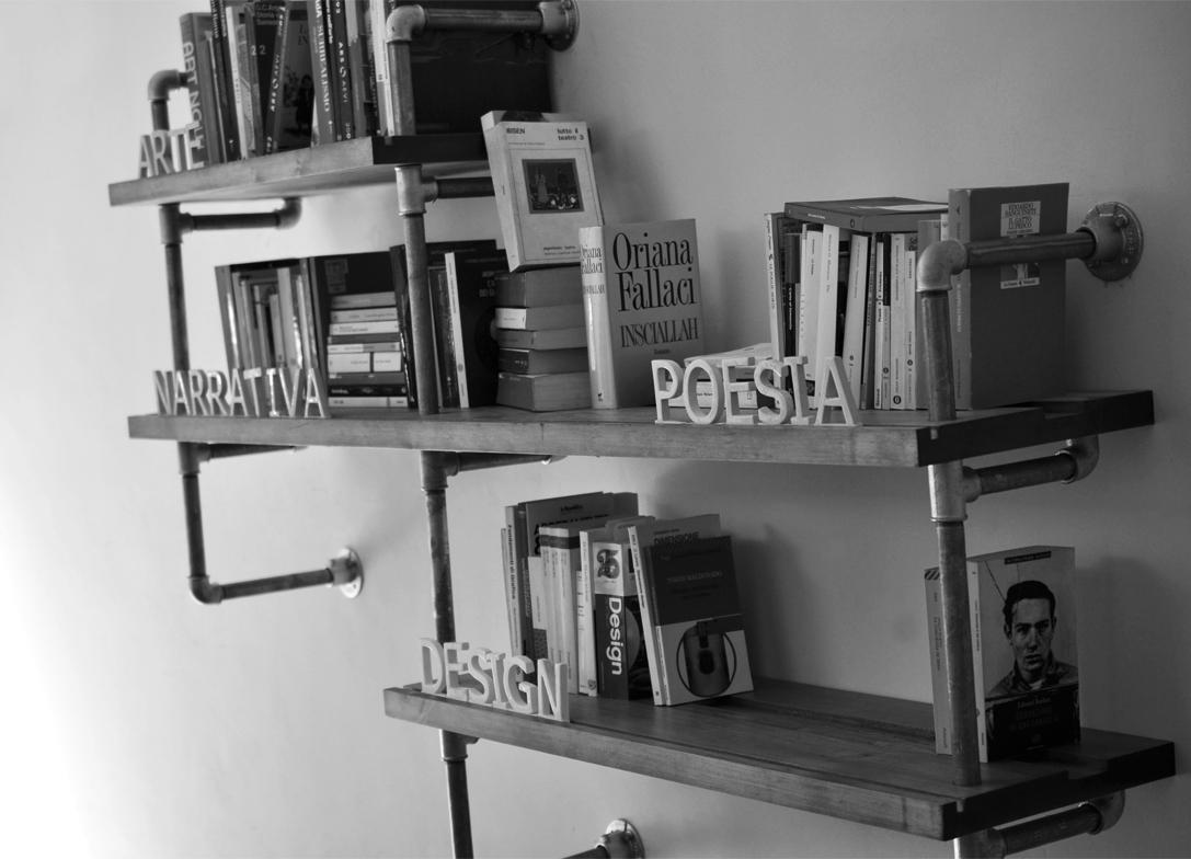 Zefiro libreria for Tubi idraulici arredamento