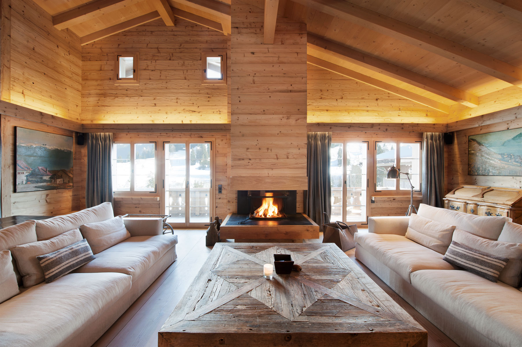 Chalet gstaad switzerland for Interieur chalet bois