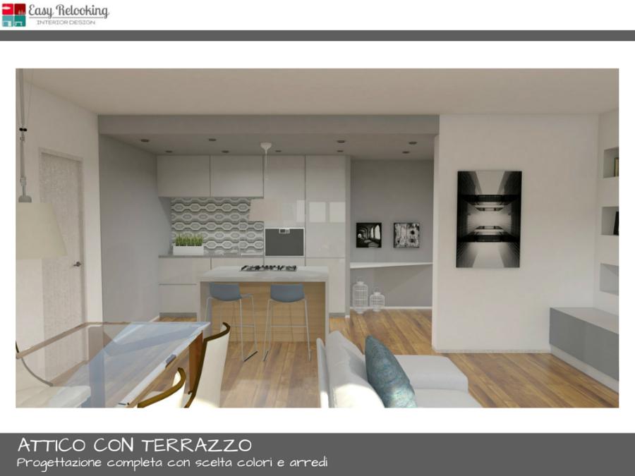 Progettazione attico con terrazzo a milano - Progettazione terrazzi milano ...