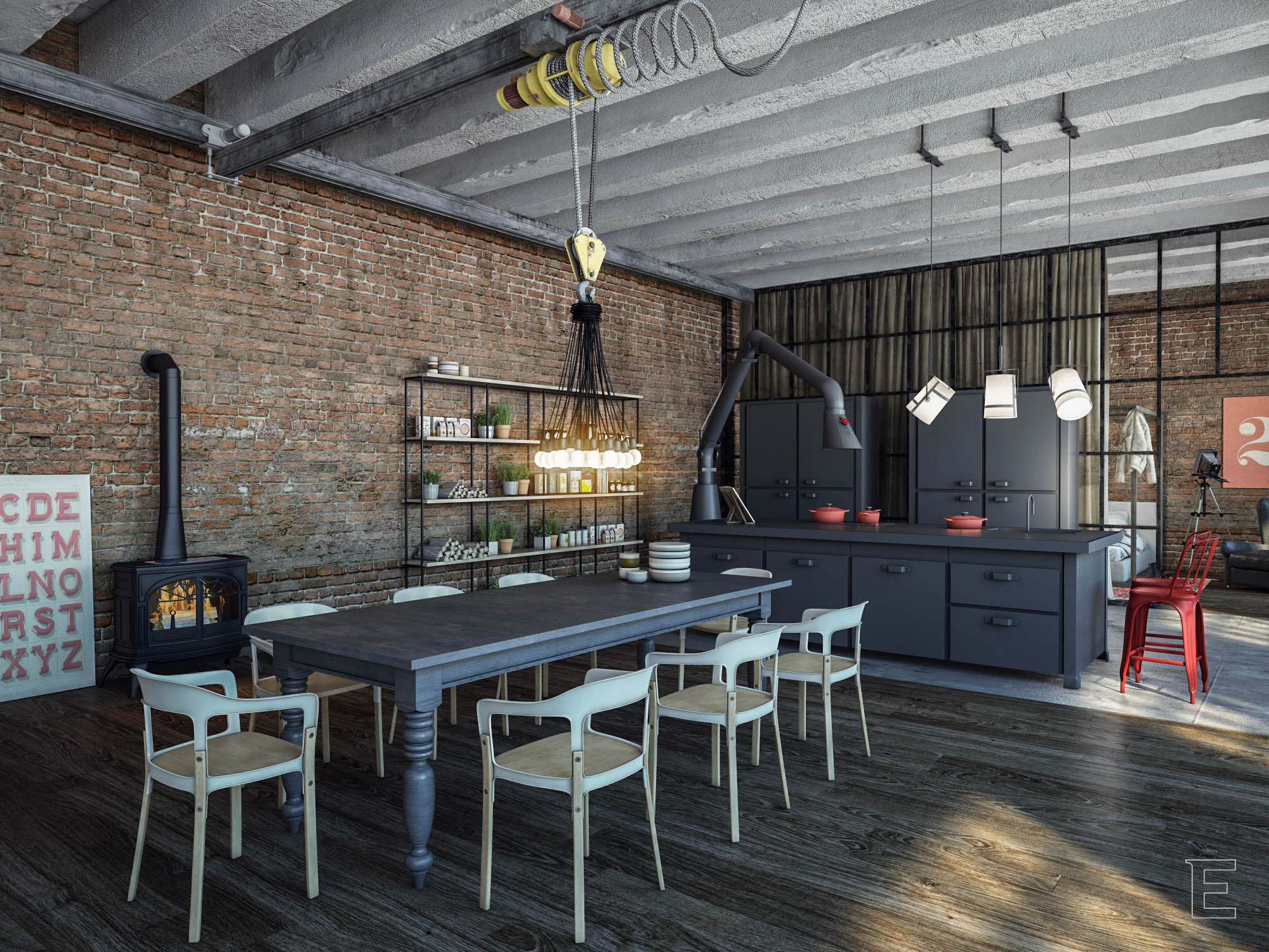 Industrial loft for Shop with loft