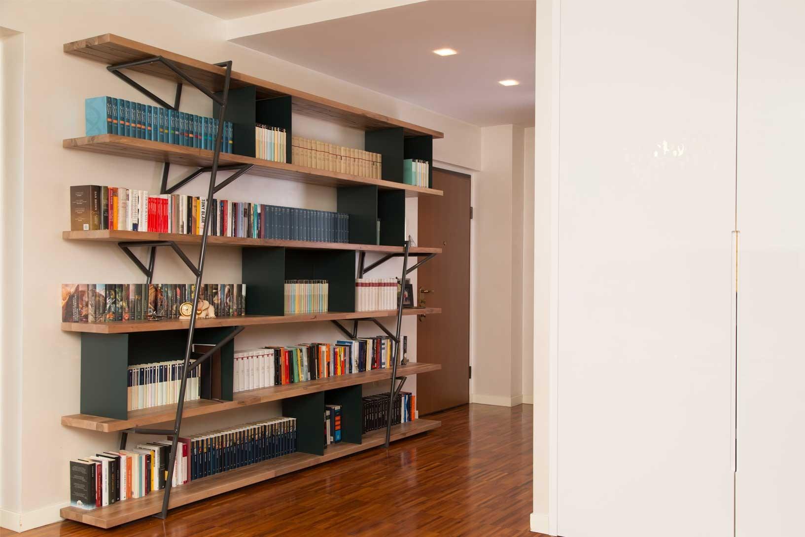 Logshelf libreria for Libreria in ferro