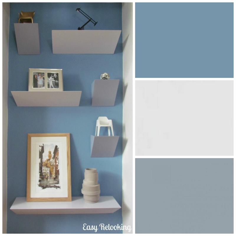 Arredo e progettazione di una nicchia in un soggiorno contemporaneo - Parete carta da zucchero ...