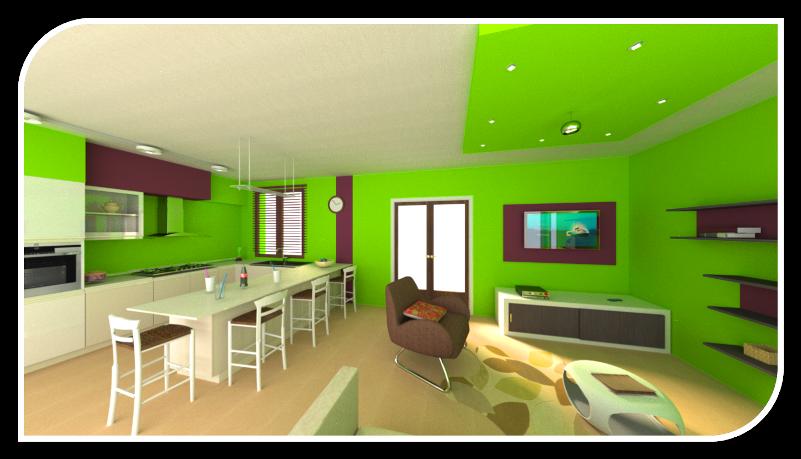 Living in simbiosi - Cucina salotto open space ...
