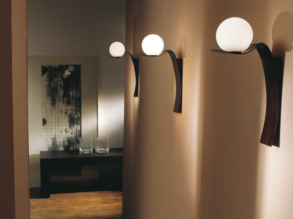 Plafoniera A Parete Per Interni : Wave collezione di lampade per interni.